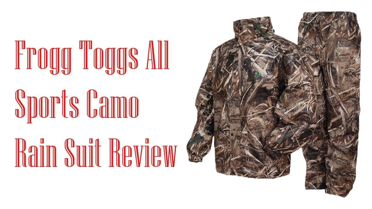 frogg toggs all sports camo rain suit best hunting rain gear youtube