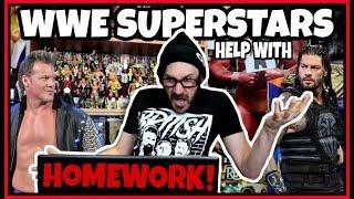 WWE WRESTLING SUPERSTARS Help With My ROYAL WEDDING Homework - Funny WWE