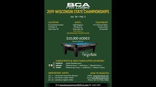 2019 BCAPL Wisconsin State Championships Brian Otto vs. Mason Koch