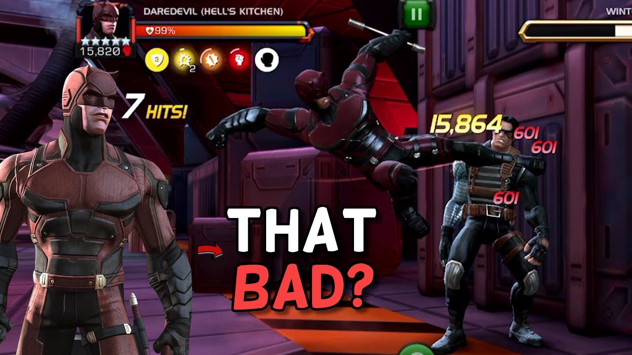 My Thoughts On The Daredevil Hells Kitchen Buff Missing Some Numbers Marvel Contest Of Champions Youtube