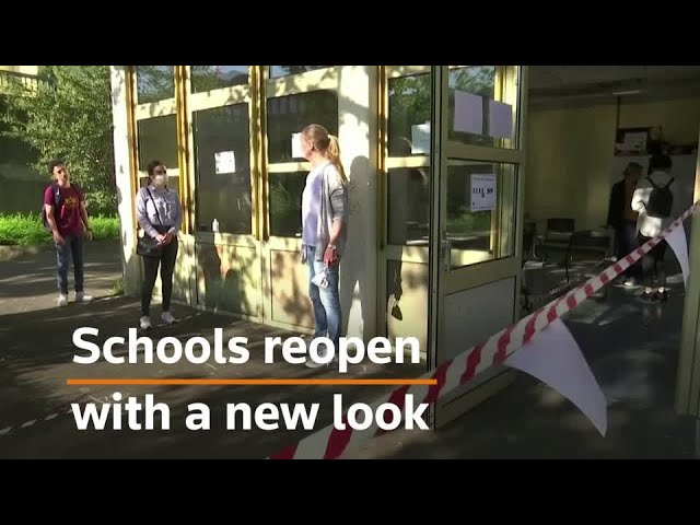 Germany school just reopened - Students go to school every other day!