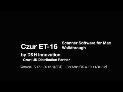 Czur ET-16 Scanner Software for Mac Walkthrough - By D&H Innovation