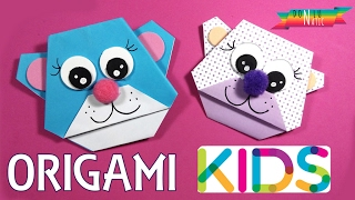Origami para niños. Papiroflexia fácil. Oso DONLUNATIC