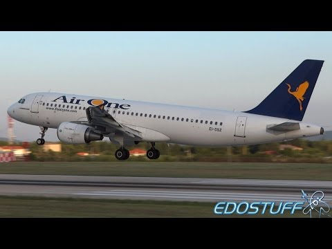 Alitalia retires Air One & Rare Air One A320 Landing at Split Airport SPU/LDSP