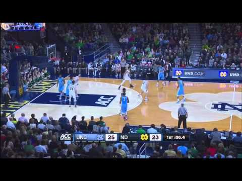 UNC Men's Basketball: Highlights vs. Notre Dame