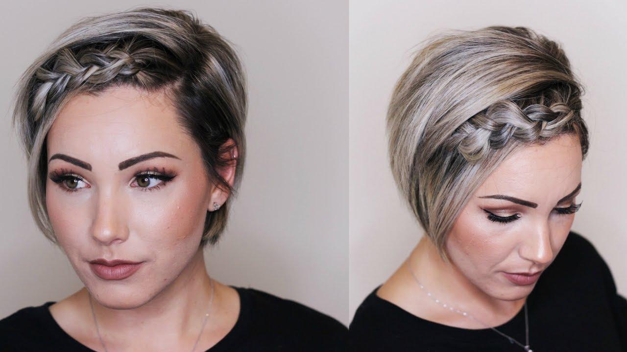 Dutch Braid Hair Tutorial Short Hair Youtube