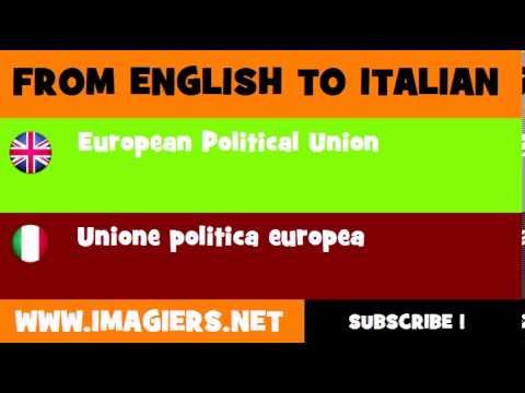 How to say European Political Union in Italian