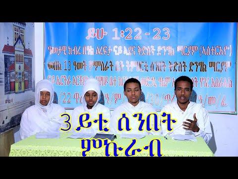 ሳልሰይቲ ሰንበት ምኩራብ ብሕፃናት (መደብ ሕቶን መልስን) Eritrean Orthodox Tewahdo Church 2021