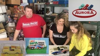 $$$ Storage Wars Large collection of Aurora Boxed Slot Cars Found $$$