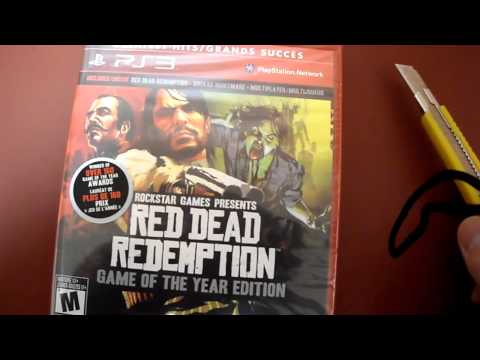 Unboxing Red Dead Redemption Game of the Year GOTY Edition Rockstar Games Sony PS3 Take-Two