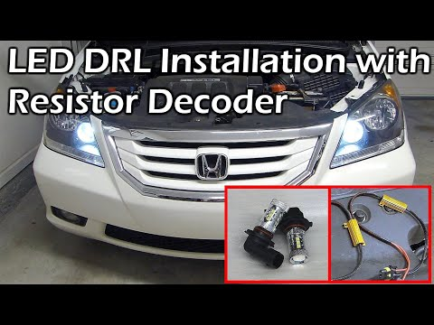Honda 9005 LED DRL Daytime Running Light Install with Load Resistor