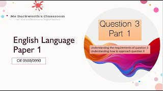 How to approach question 3 (ext response to reading) CIE IGCSE 0500/0990 Language Paper 1 (Pt 1)