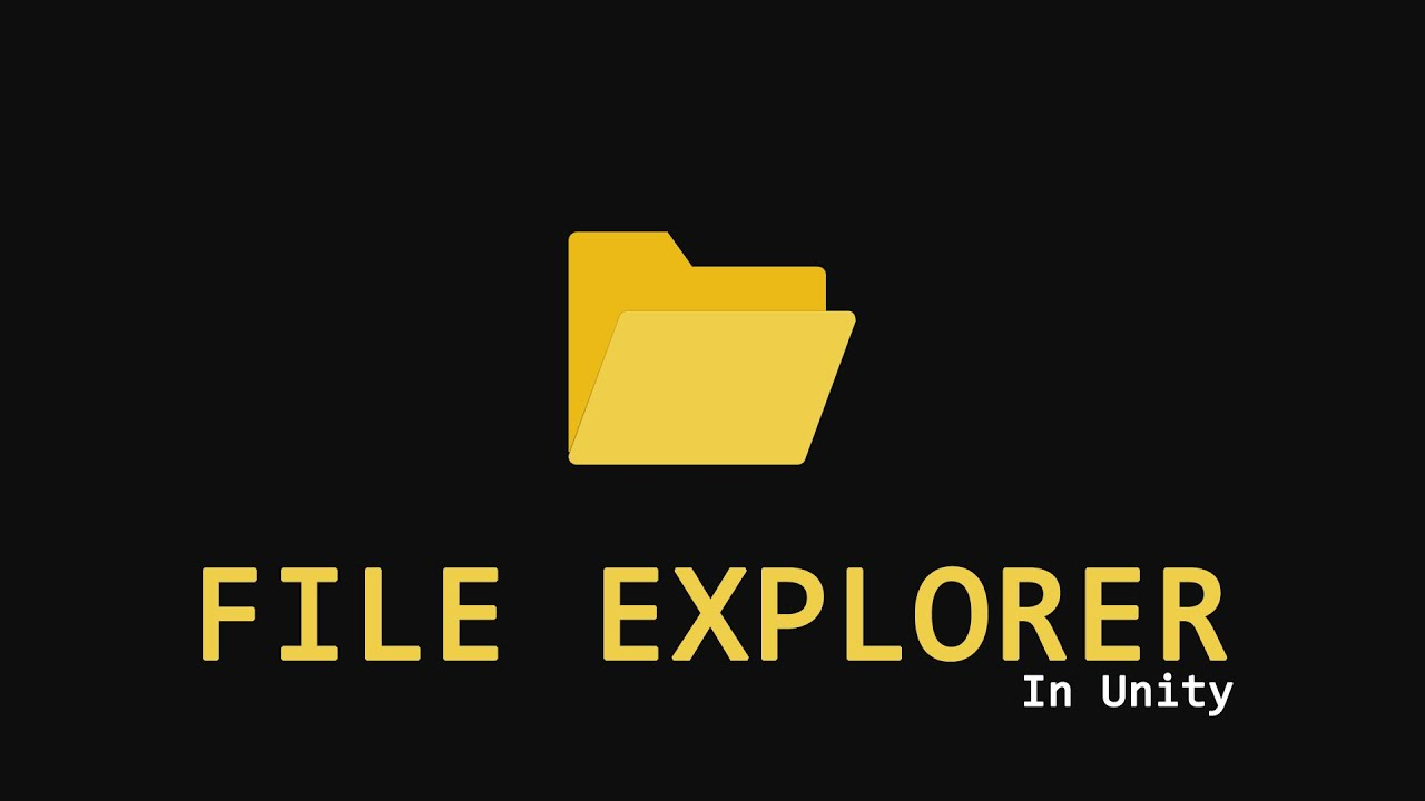 How to make File Explorer in Unity [Easy Way] [Editor Only]