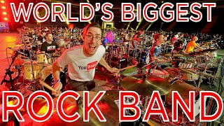 Download WORLD RECORD BIGGEST ROCK BAND! (I played drums with 1000+ Musicians)!  Rockin 1000! Mp3 and Videos
