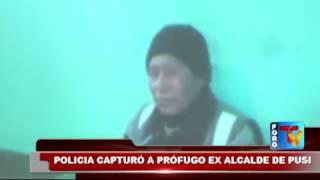 POLICIA CAPTURÓ A PRÓFUGO EX ALCALDE DE PUSI