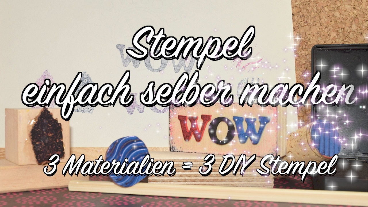 basics stempel selber machen diy 3x anders anleitung youtube. Black Bedroom Furniture Sets. Home Design Ideas
