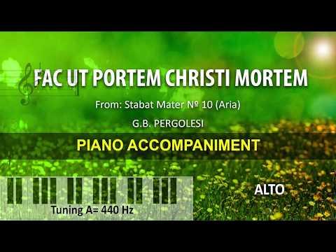 Fac ut portem Christi mortem / Pergolesi: Karaoke + Score guide / alto