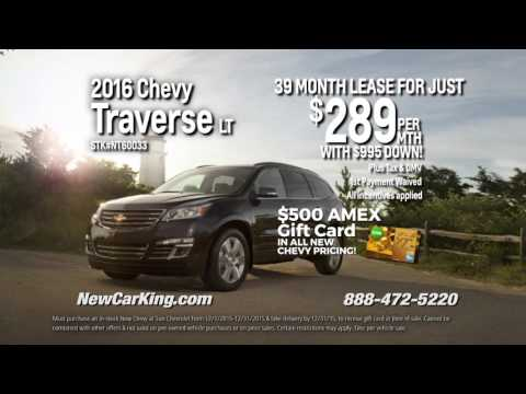 Lease A 2016 Chevy Traverse For Just $289 Per Month!