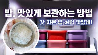 밥 맛있게 보관하는 방법 •  냉동밥 보관용기 고르는 …