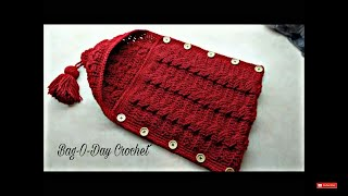 How to Crochet Cable Stitch Newborn Baby Bunting Cocoon | Bag-O-Day Crochet #TUTORIAL #283