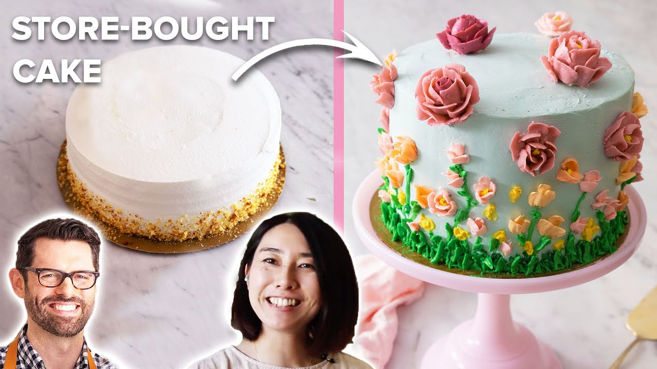 Preppy Kitchen Helps Rie Transform Store-bought Cake For Mother's Day •Tasty