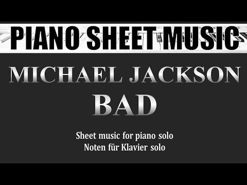 Michael Jackson - Bad (Piano Solo)