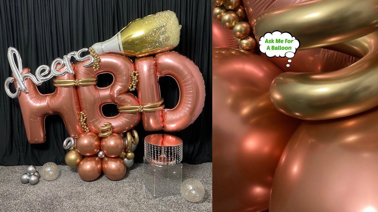 Balloon Bouquet Cheers HBD