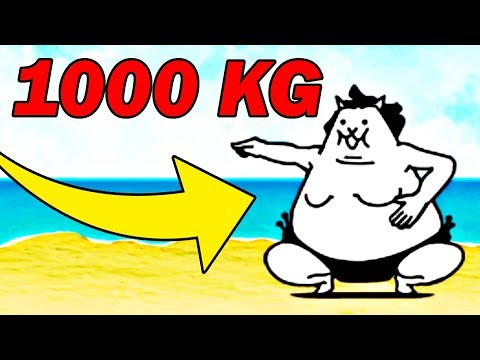 NAJGRUBSZY KOT NA ŚWIECIE 1000KG !   THE BATTLE CATS #admiros