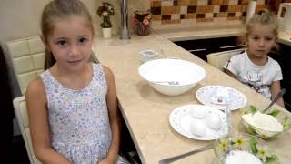 Быстрый рецепт приготовление пончиков с участием детей!