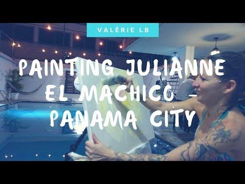 Painting Julianne - El Machico Hostel Panama City