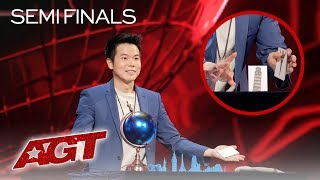 Magician Eric Chien Takes A RISK With NEW Magic Tricks On AGT! - America's Got Talent 2019