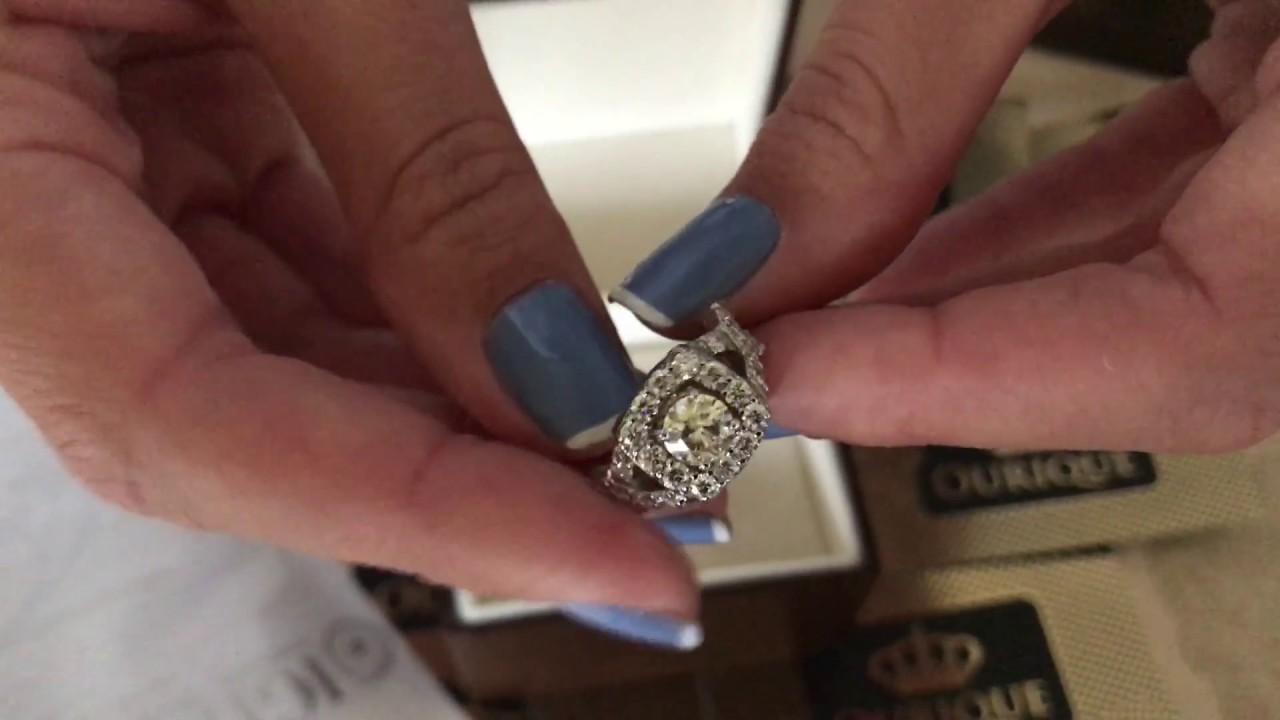 cc3ef3f5e00 Anel de noivado com diamantes e ouro branco modelo internacional - luxury  jewelry