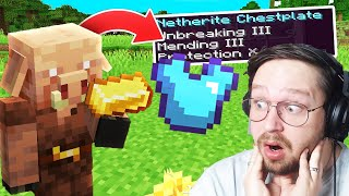 Minecraft mais les Piglins Trade des Items Cheaté !