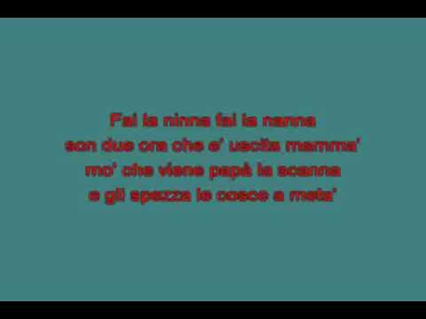 Ninna nanna   Salvatore Federico [karaoke]