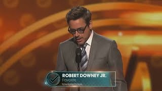 Robert Downey Jr at People's Choice Award Winning Best Actor Award.