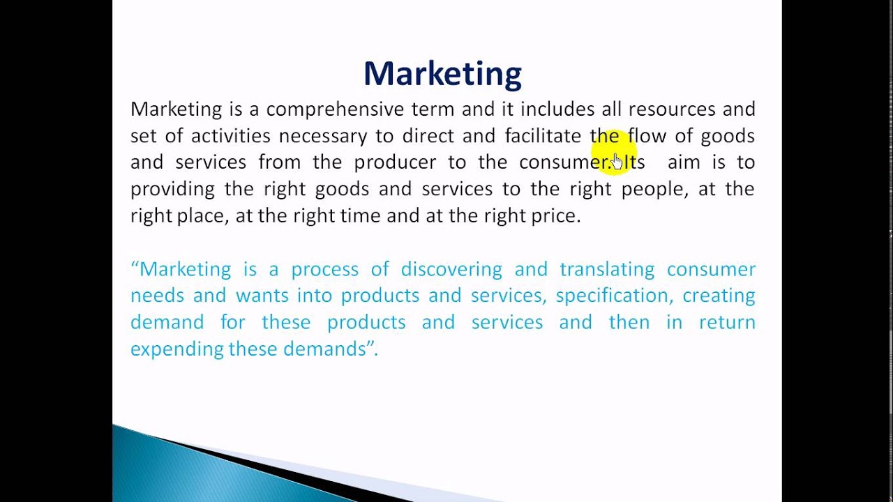 Introduction to marketing management lecture 2 in hindi 4 B.com ...