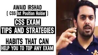 Awaid Irshad Bhatti CSS Topper - Ask Awaid Session
