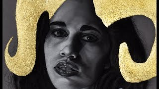 """* Speed Drawing * Portrait Charcoal Drawing """"Purity"""""""