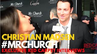 Christian Madsen interviewed at the Red Carpet Premiere of Mr Church MrChurch