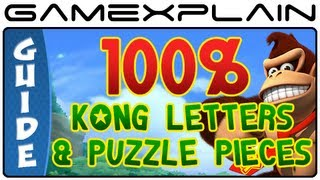All KONG Letters and Puzzle Pieces (100%!) in Donkey Kong Country Returns 3D -  Guide & Walkthrough
