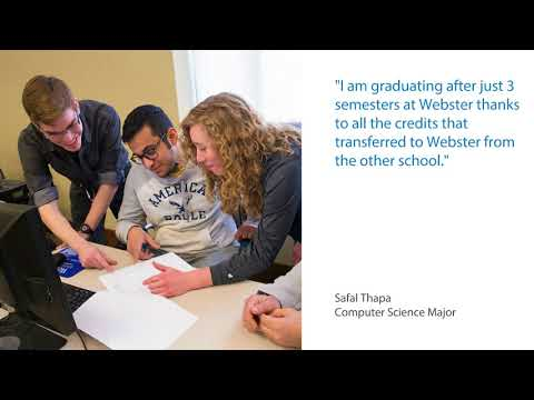 Transfer to Webster | Generous Transfer Credits