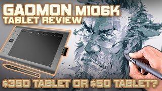 $50 vs $350 Art Tablet Gaomon M106K review
