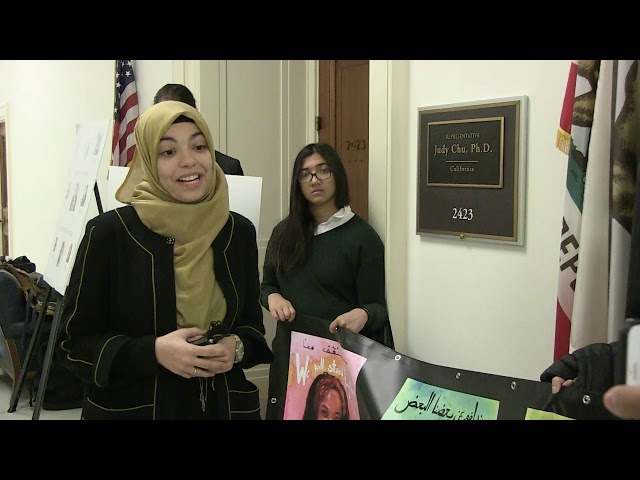 Video: On Anniversary of Trump's Muslim Ban, Advocates Deliver 150K Petition to Congress