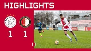 Highlights Ajax O19 - Feyenoord O19 | Kampioenspoule