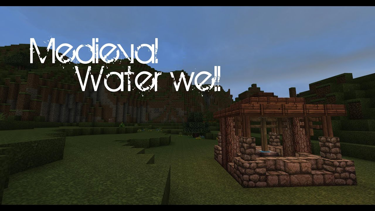 Minecraft Medieval Water Well Tutorial Youtube