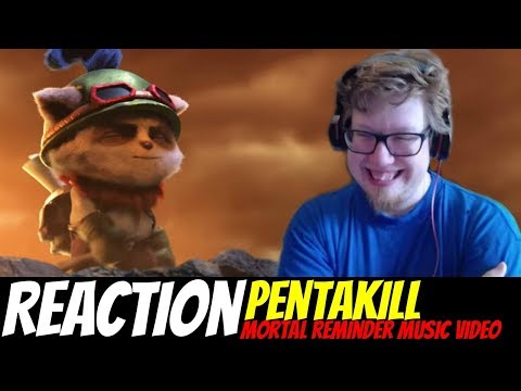 Pentakill: Mortal Reminder Official Music Video REACTION/REVIEW | League of Legends