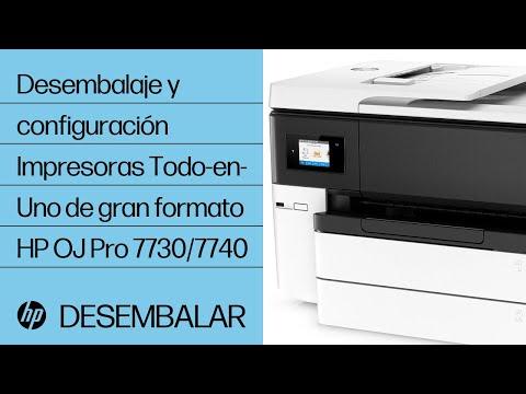 Desembalaje y configuración | Impresoras Todo-en-Uno de gran formato HP OfficeJet Pro 7730/7740 | HP