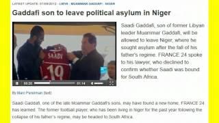 HERO SAADI GADDAFI LEAVING POLITICAL ASYLUM IN NIGER! LINK BELOW!