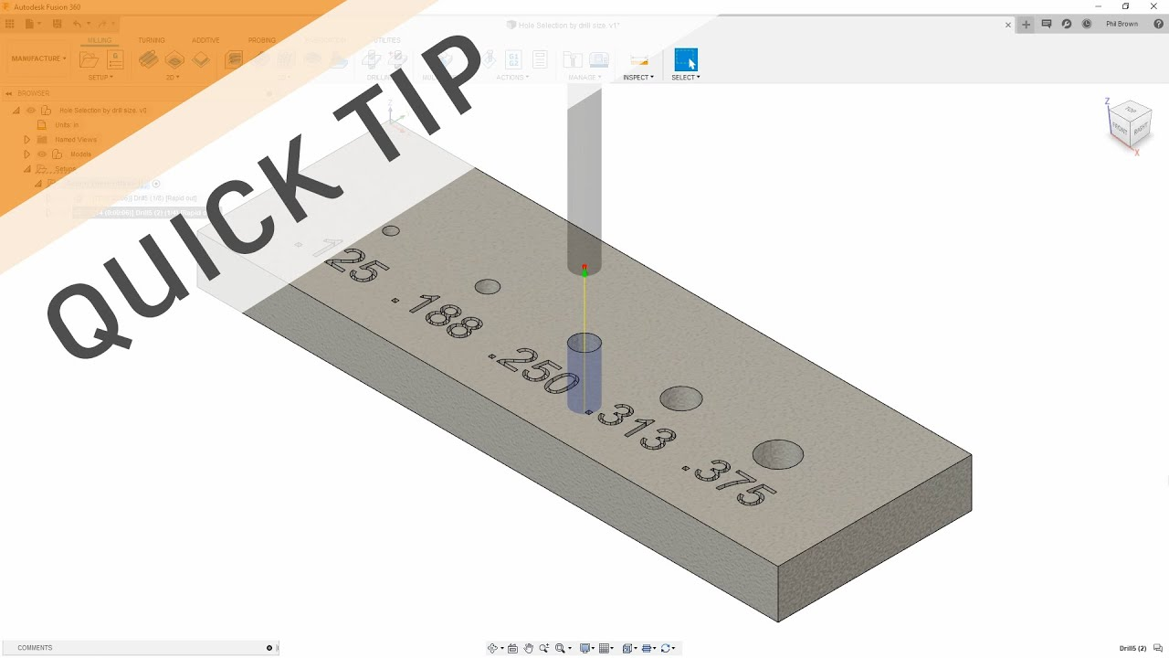 QUICK TIP: Automatically find Holes by Drill Size
