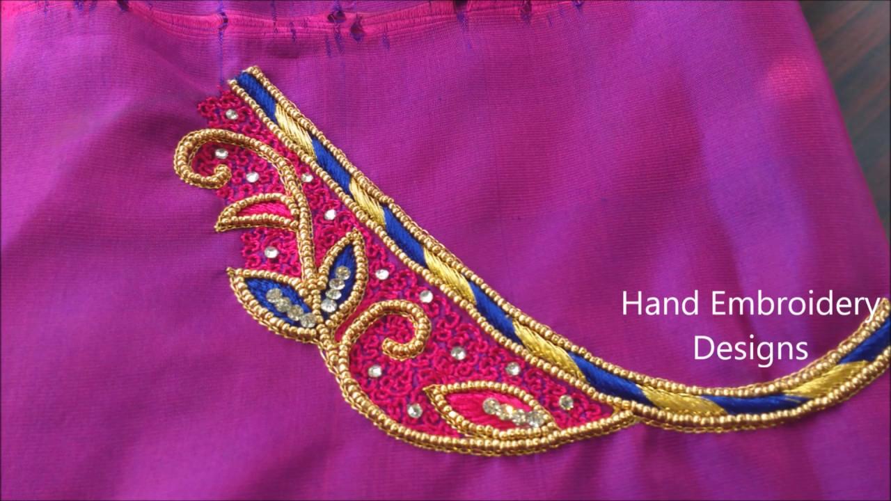 Aari work designs hand embroidery
